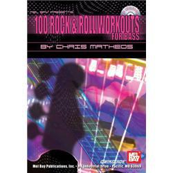 100 ROCK & ROLL WORKOUTS FOR BASS + CD bass & tab