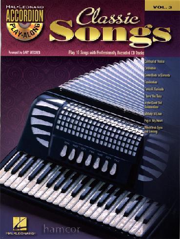Accordion play along - Classic songs + CD
