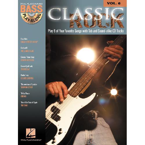 BASS PLAY-ALONG 6 - CLASSIC ROCK + CD