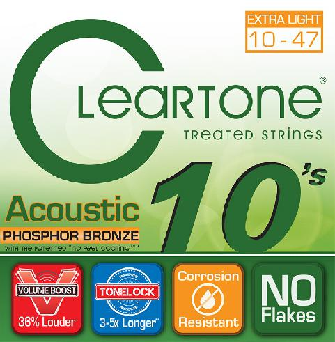 Cleartone Acoustic Treated Strings Phospor Bronze