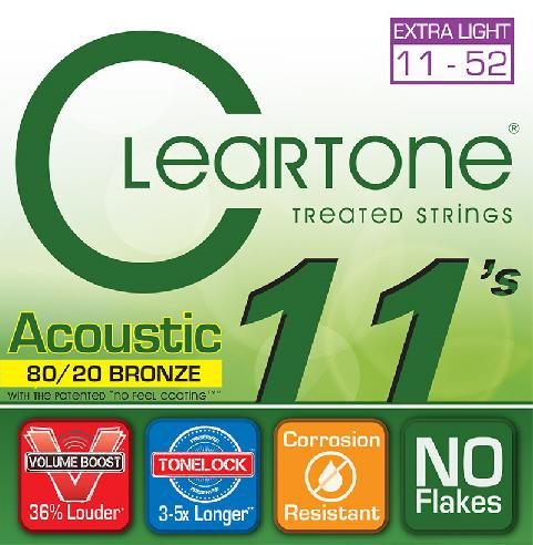 Cleartone Acoustic Treated Strings Bronze